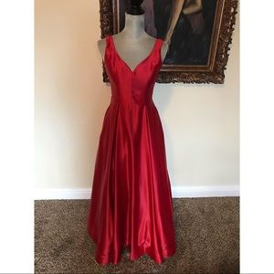 Red satin dress from Windsor